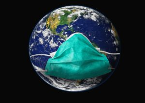 Aarde met mondkapje